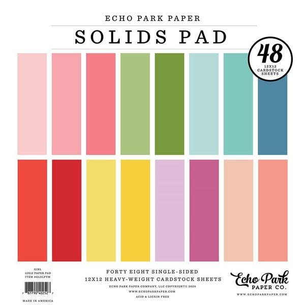 Girl Solids 12 inch x 12 inch Paper Pad