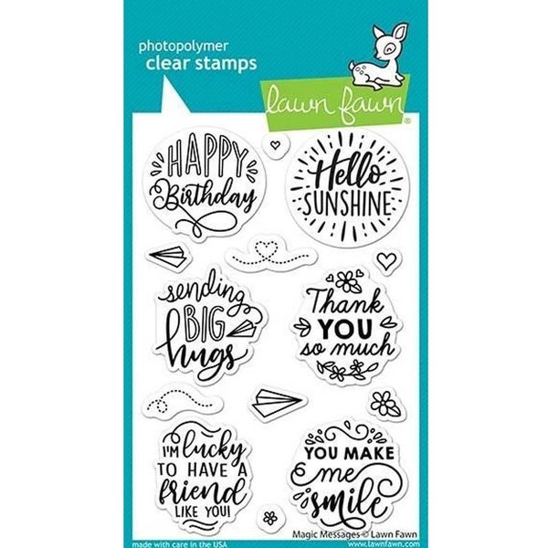 Magic Messages clear stamp set