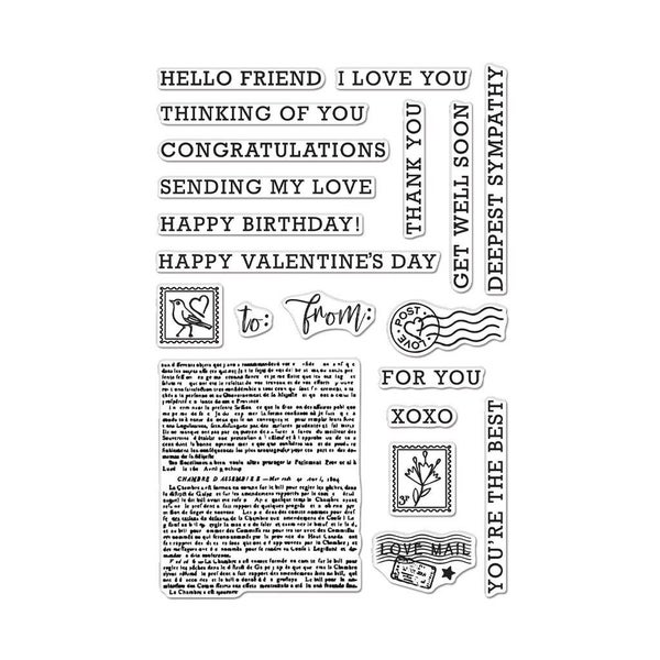 Hero Arts- Sending Love Mail Stamp Set