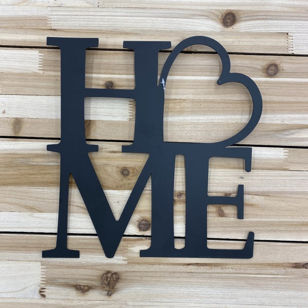 Home with a Heart, Metal Wall Art, Home Decor