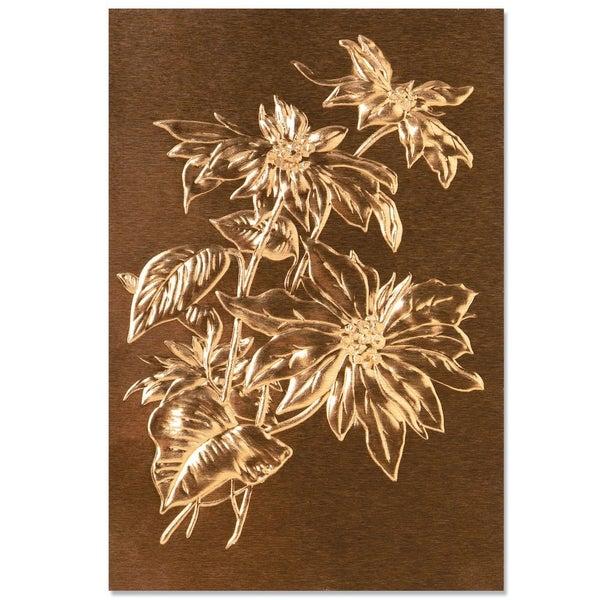 Poinsettia 3D Embossing Folder, Tim Holtz Sizzix