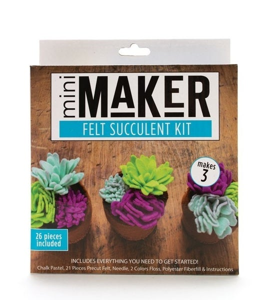 Mini Maker Succulent Felt Kit