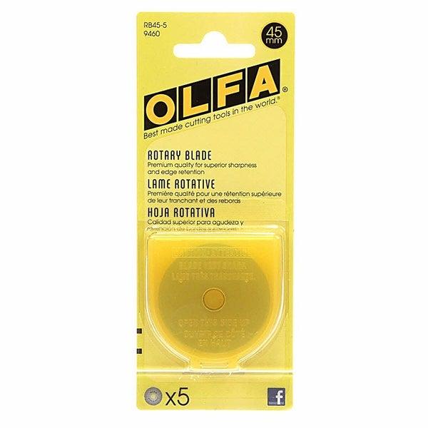 OLFA Rotary Blade, 45mm 5 per pack