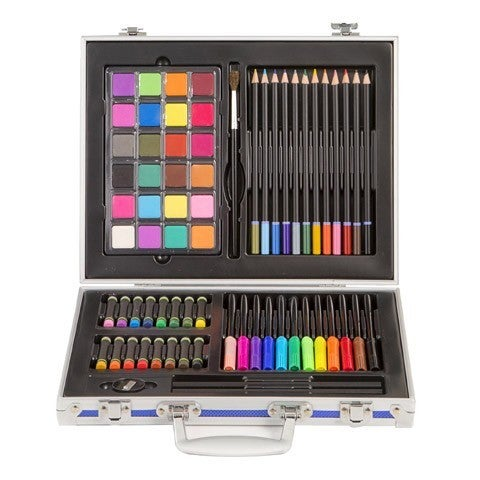 Studio 71 Kids Art Set in Metal Case: Assorted Colors, 71 pieces