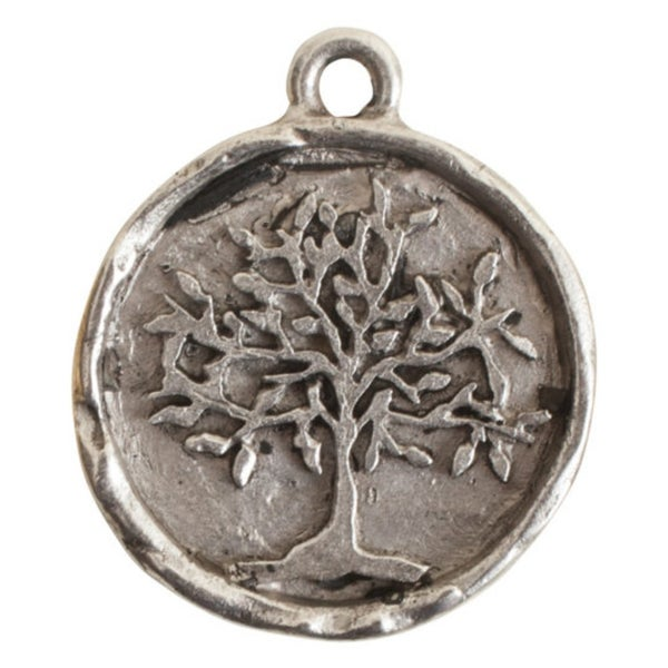 Tree Of Life Charm- Antiqued Silver