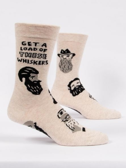 Get a Load of These Whiskers Men's Crew, BlueQ