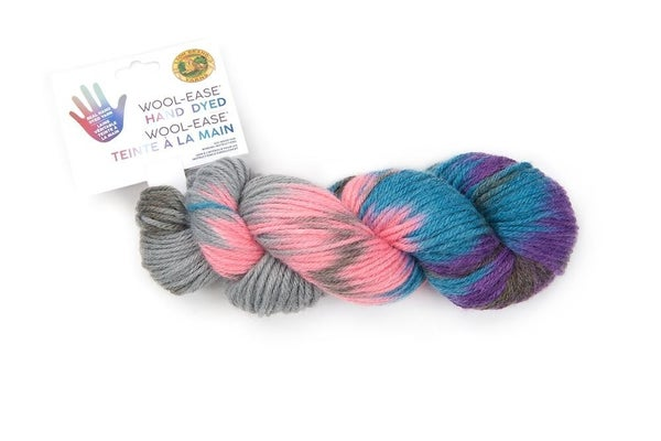 Lion Brand, Wool-Ease® Hand Dyed  Yarn- Cotton Candy