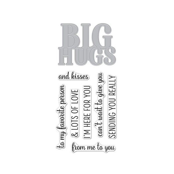 Hero Arts- Big Hugs Stamp & Die Cut Set