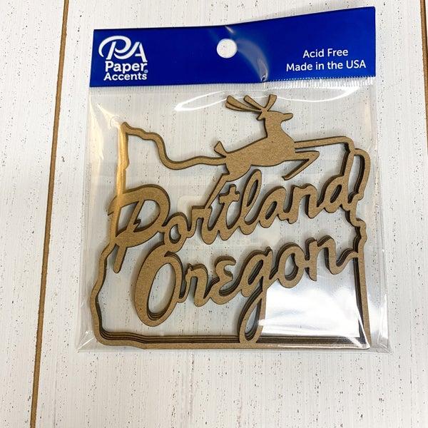 Chipboard Shapes- Portland Sign  4pcs