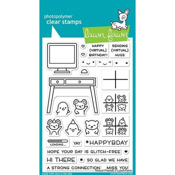 Lawn Fawn- Virtual Friends Stamp Set