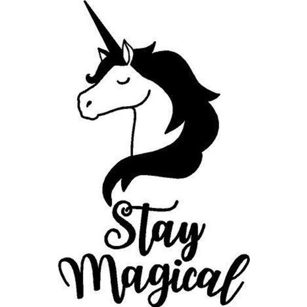 Rub-On Vinyl- Unicorn Stay Magical