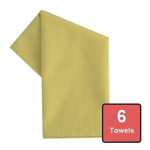 Canary Yellow Cotton Tea Towels 6pc