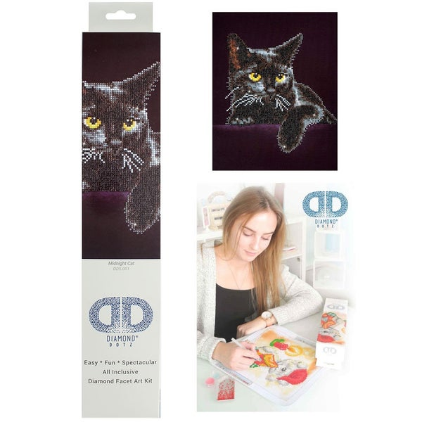 Diamond Dotz Kit Intermediate Midnight Cat