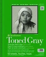Strathmore Toned Grey Sketch Pad - 9-inch x 12-inch