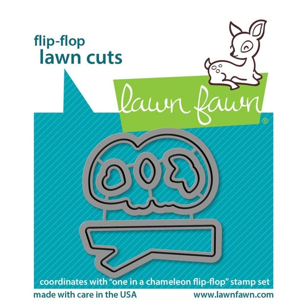 Lawn Fawn- Flip-Flop One in a Chameleon Die Cut