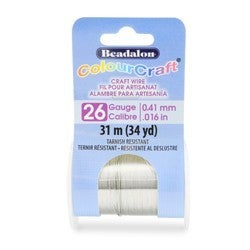 Craft Wire- 26GA Silver 10yd Spool
