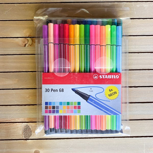STABILO pen 68 1mm, 30 pcs