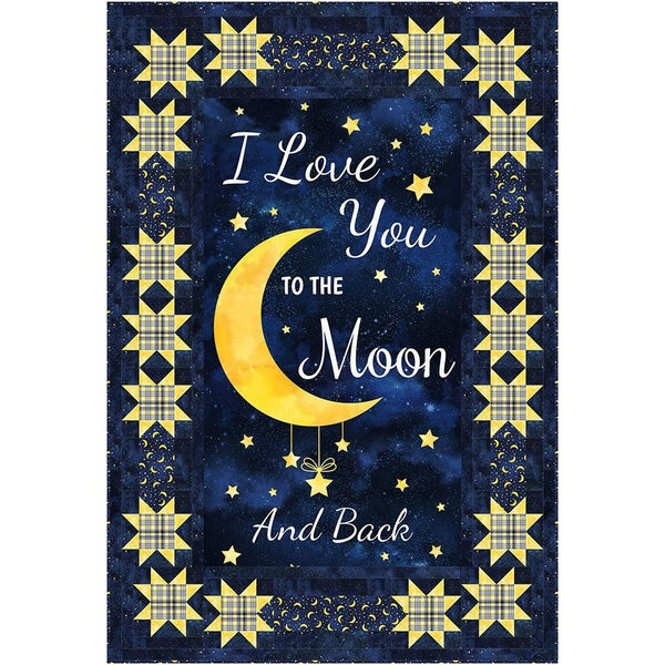 Stars Around Quilt Pattern , I Love you to the Moon and Back Collection