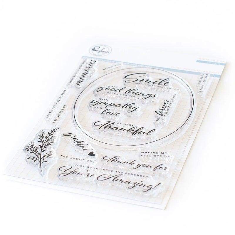 Pink Fresh Studios- Oval Foliage Stamp Set