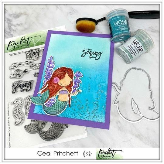 Picket Fence Studios- I Am A Mermaid Stamp Set