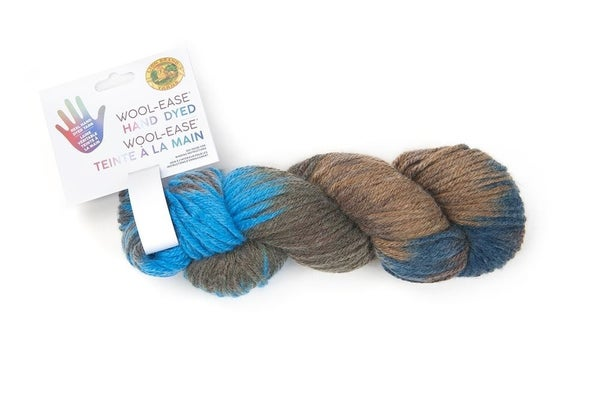 Lion Brand, Wool-Ease® Hand Dyed Yarn- Blue Raspberry