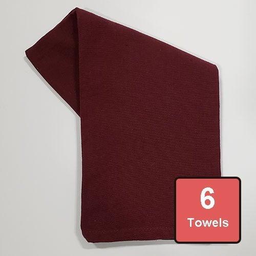 Wine Cotton Tea Towels 6pc