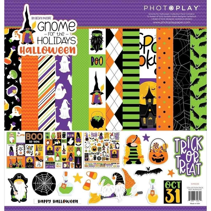 Photo Play Paper- Gnome For Halloween 12x12 Collection Pack