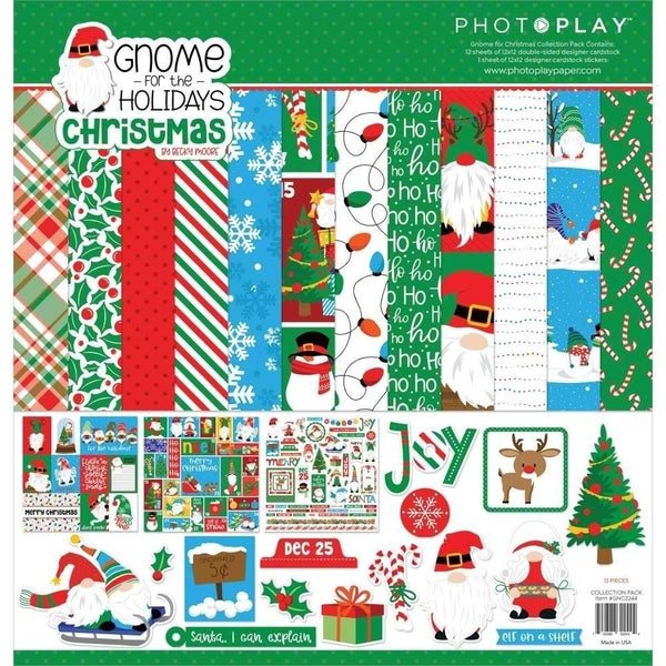 Photo Play Paper- Gnome For Christmas 12x12 Collection Pack