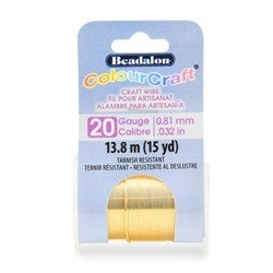 Craft Wire- 20GA Silver Plated Gold 10yd Spool