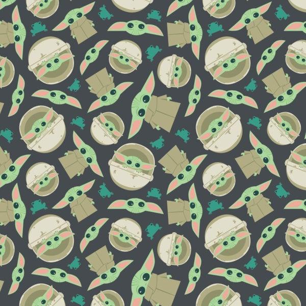 1 Yard Cut - Star Wars The Child aka Baby Yoda Allover Flannel Print Fabric