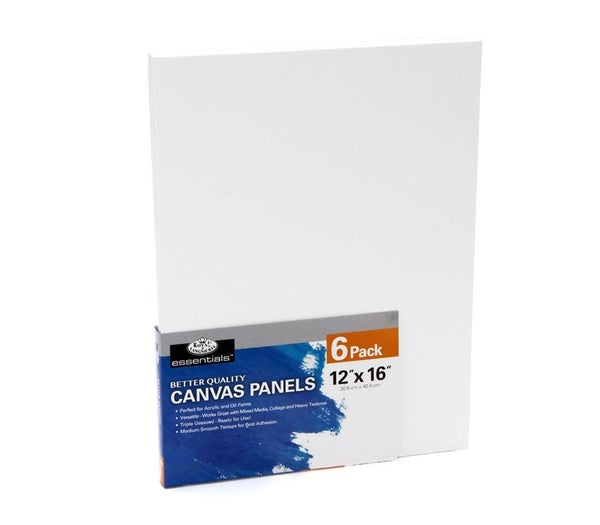 "12"" x 16"" 6/Piece Canvas Panel Bundle Pack"