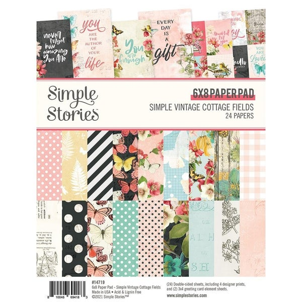 Simple Vintage Cottage Fields 6x8 Paper Pad by Simple Stories
