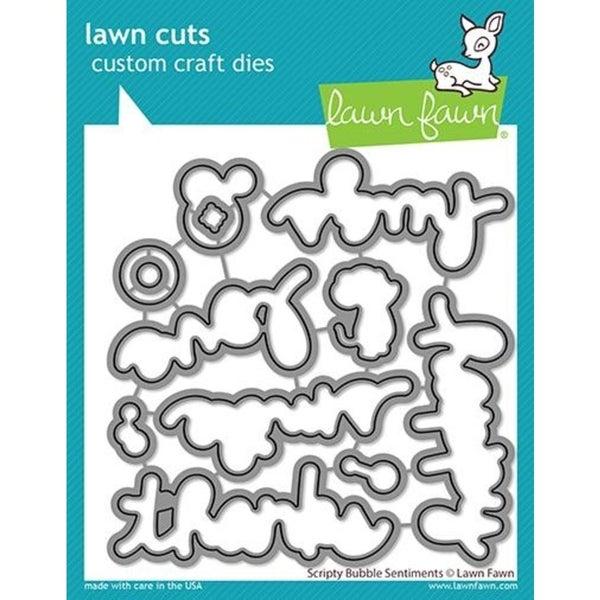 Lawn Fawn- Scripty Bubble Sentiment Die Cut