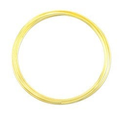 Memory Wire- Extra Heavy Round Large Bracelet , Gold