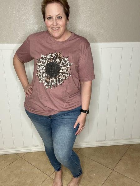 Leopard Daisy T-Shirt