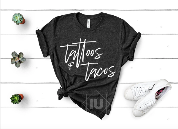Tattoos and Tacos Graphic Tee - PreSale