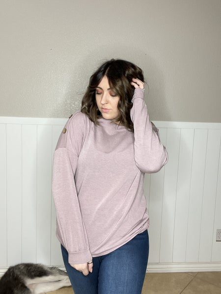 Solid Top with Off The Shoulder Buttons