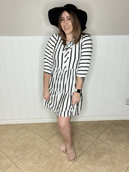 Striped Baby Doll Dress