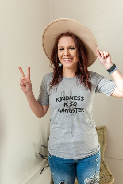 Gray Kindness is so gangster graphic tee