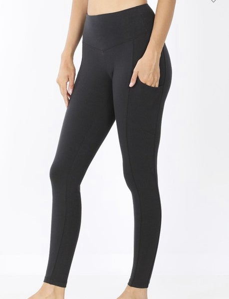 Buttery soft black leggings with pockets