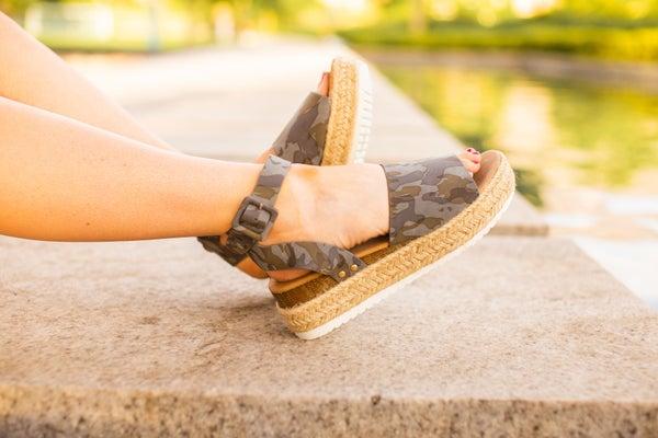 Camo Platform Sandal