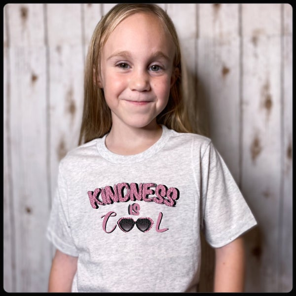 Children's kindness is cool girls tee shirt