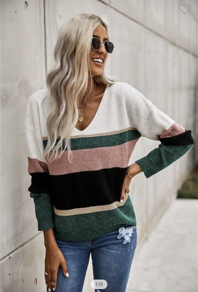 The Jaci - Striped Sweater