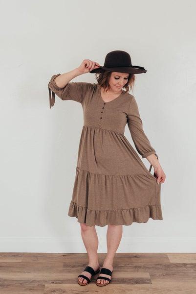 Taupe Swing Dress