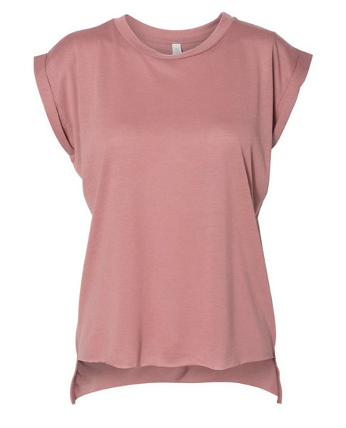 Mauve workout high low muscle tee