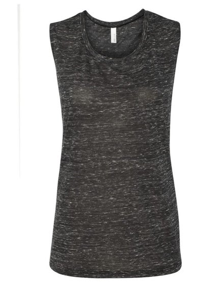 Black marble workout muscle tank