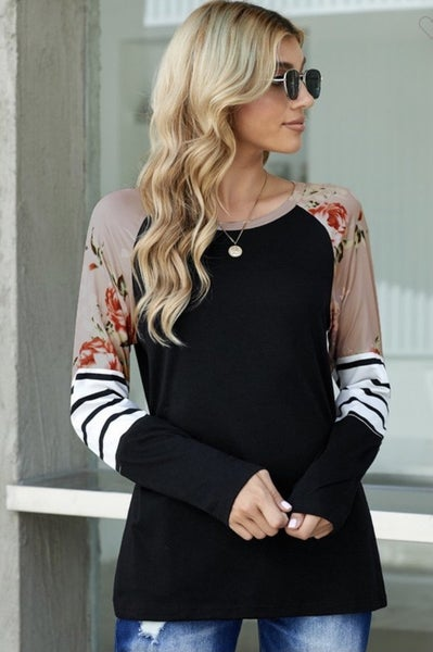 The Brook - Floral Sleeve Top