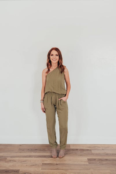 Light Olive Green Jumpsuit