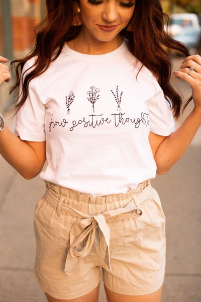 Grow Positive Thoughts Graphic Tee