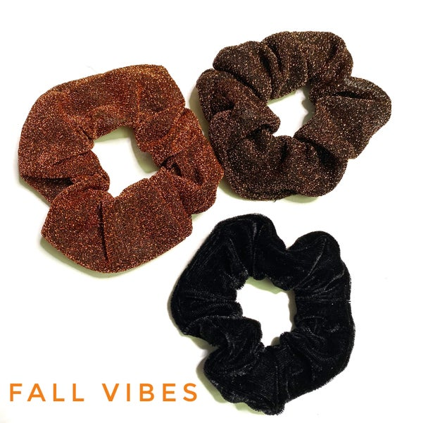Sparkle scrunchies set of 3